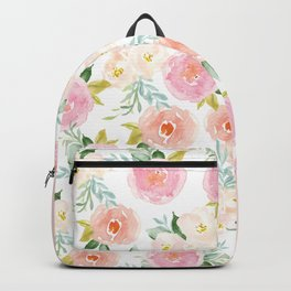Sweet Pink Blooms (Floral 02) Backpack
