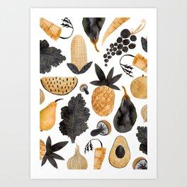 Veggie Love Art Print