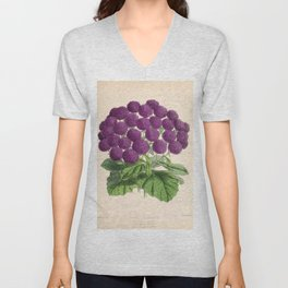 Double Cineraria Original hand-coloured print drawn and lithographed by Fitch Unisex V-Neck