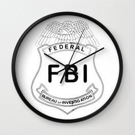 Feds Badge Wall Clock