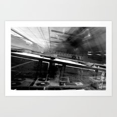 Talking To A Stranger In The Dark: Buildings Told Me They Were Just Clouds Art Print