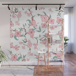 Creepy Flowers Pattern Wall Mural