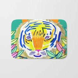 Tiger in Bushes. Bath Mat