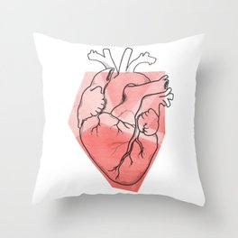 Heart Lines Throw Pillow