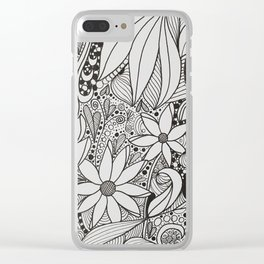 Zentangle - 4 Clear iPhone Case