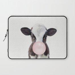 Bubble Gum Baby Cow Laptop Sleeve