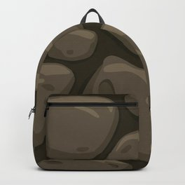 Pattern of painted stones Backpack