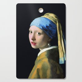 Jan Vermeer Girl With A Pearl Earring Baroque Art Cutting Board