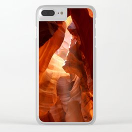 A Canyon Sculptured By Water Clear iPhone Case