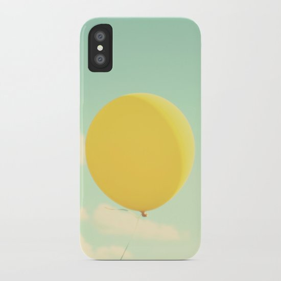 yellow balloon iPhone Case