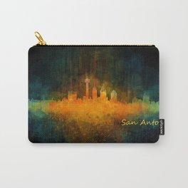 San Antonio City Skyline Hq v4 Carry-All Pouch