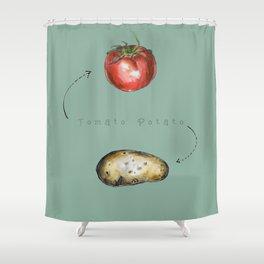 Tomato Potato Shower Curtain