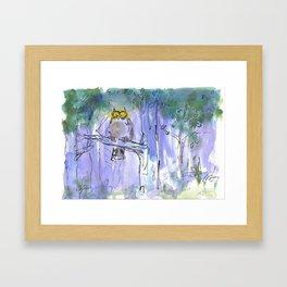 Cartoon Owl Framed Art Print
