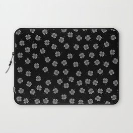 Dark Gray Clover Laptop Sleeve