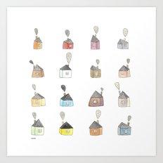 les petites maisons douillettes Art Print