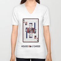 house of cards V-neck T-shirts featuring House of cards Playing card  by Lewys Williams