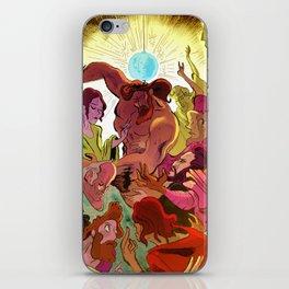 SuperJesus & the 12 apostles on the dancefloor iPhone Skin