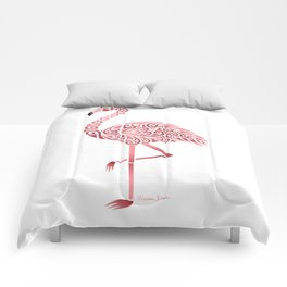 Funky Tribal Flamingo Comforters