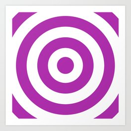 Target (Purple & White Pattern) Art Print