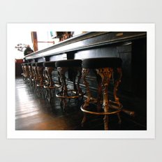 The Lonely Bartender Art Print