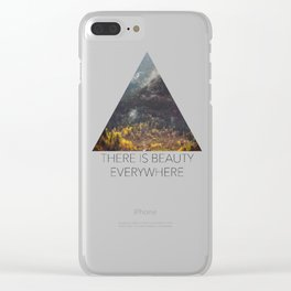 Glacier Valley Fall Clear iPhone Case