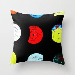 Vinyl Records Version 2 Throw Pillow