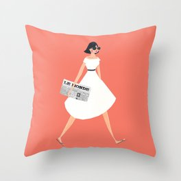 Sunday Paper Throw Pillow