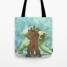 White bear attack Tote Bag