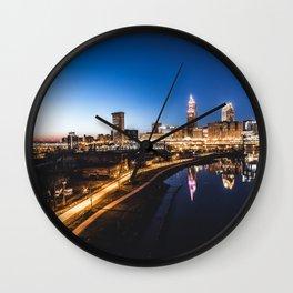 Night Reclaims The City Wall Clock