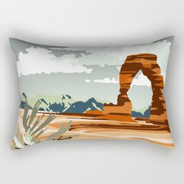 DELICATE ARCH MOAB UTAH Rectangular Pillow