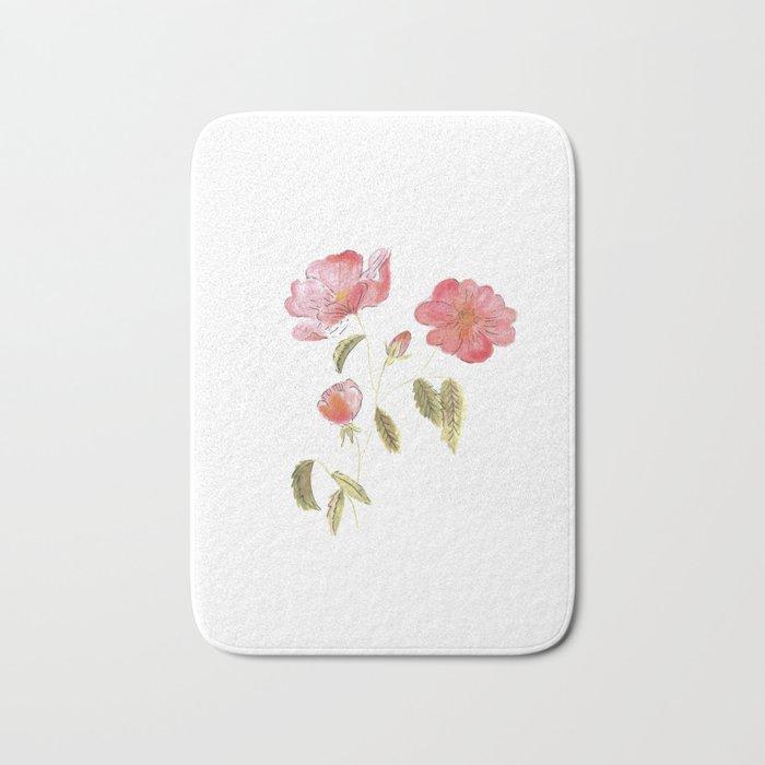 Rose Flower Bath Mat