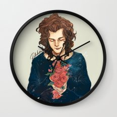 Roses on Your Hands Wall Clock
