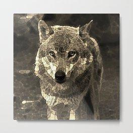 Wolf 215 Mosaic Metal Print