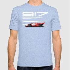 Porsche 917-023 1970 Le Mans Winner Tri-Blue LARGE Mens Fitted Tee