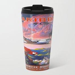 Vintage poster- Caribbean Travel Mug