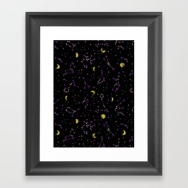 Galactic Pattern Framed Art Print