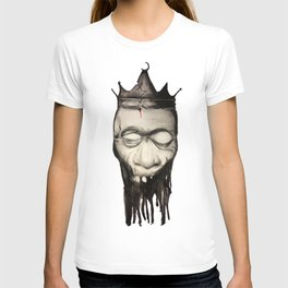 Rotten heads of kings with crowns. T-shirt