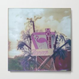 motel flamingo Metal Print
