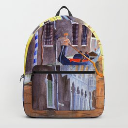 Reflections Of Venice Italy Backpack