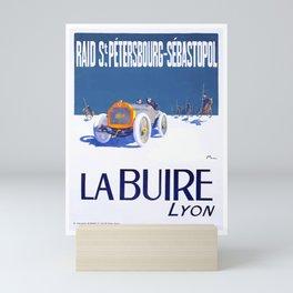 1911 La Buire French Automobile Advertising Poster Mini Art Print