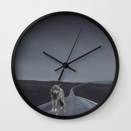 Road Wolf Wall Clock