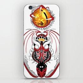 Cosmic Bloodshot Dragon iPhone Skin