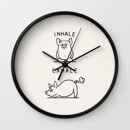 Inhale Exhale Pig Wall Clock