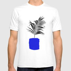 Blue Pot MEDIUM White Mens Fitted Tee