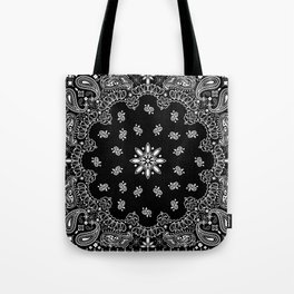 black and white bandana pattern Tote Bag