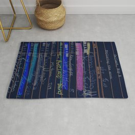 Library Card 3503 Exploring the Moon Negative Rug