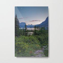 WILD GOOSE ISLAND SUNSET GLACIER NATIONAL PARK MONTANA LANDSCAPE Metal Print