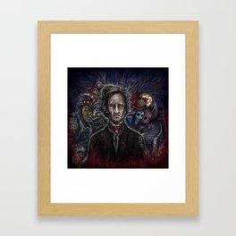 EDGAR ALLAN POE PAINTING-by Landon Huber Framed Art Print