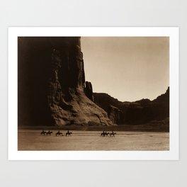 Navajo Riders - Canyon de Chelly - Edward Curtis Photo Print Art Print