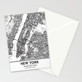 New York City Showing Manhattan, Brooklyn and New Jersey Stationery Cards